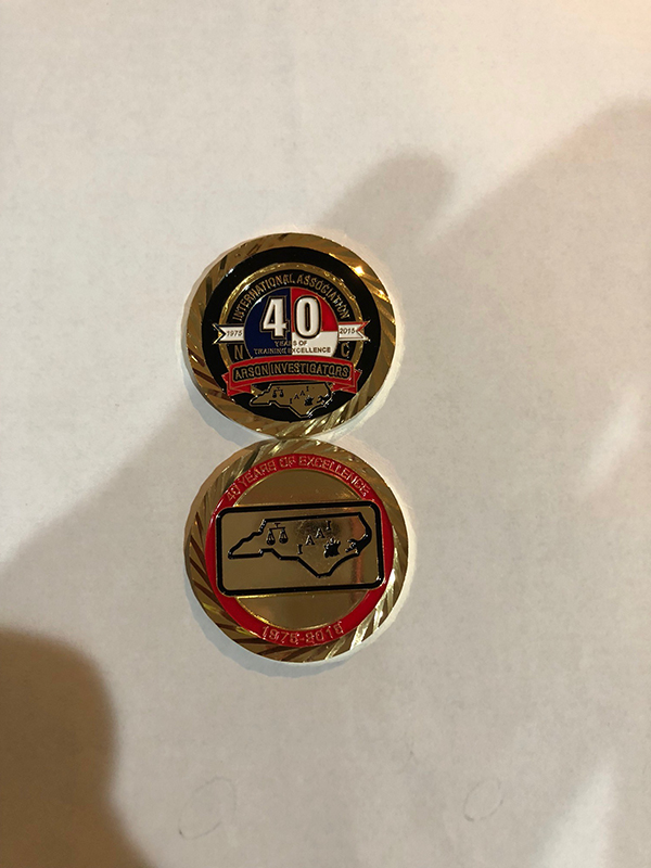 40th anniversary challenge coin