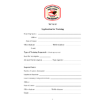 Application for Training Form (PDF)