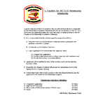 Membership Educational Scholarship Checklist